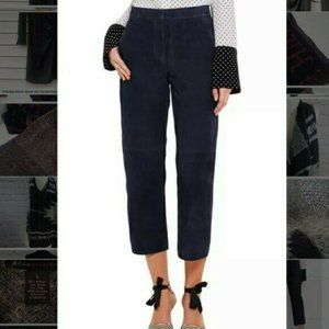 J. CREW COLLECTION 4 Navy Blue Suede Leather Pants